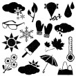 Doodle weather images — Stock Vector #14039591