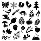 Doodle nature pictures — Stock Vector