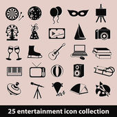 Entertainment icons — Stock Vector