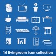 Living room icons — Stock vektor #14347911
