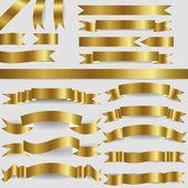 Nastri oro — Vettoriale Stock
