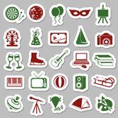 Entertainment stickers — Stock Vector