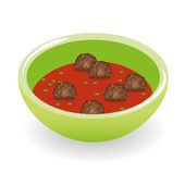 Meatballs in tomato sauce — Stock Vector