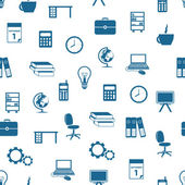 Seamless office pattern — Stock Vector