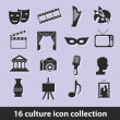 Stockvektor : Culture icons