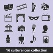 Culture icons — Stockvector #14692587