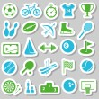 Stock Vector: Sport stickers