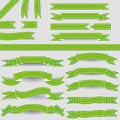 Fitas verdes — Vetorial Stock