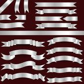银丝带 — 图库矢量图片
