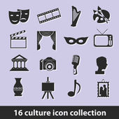 Culture icons — Stok Vektör