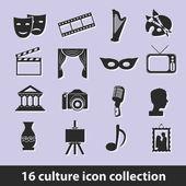 Icone della cultura — Vettoriale Stock