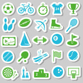 Sport stickers — Vector de stock