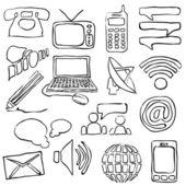 Immagini comunicazione schizzo — Vettoriale Stock