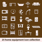 Home equipment icons — Stok Vektör