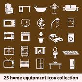 Icone casa attrezzature — Vettoriale Stock