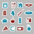 Stock Vector: Kitchen stickers