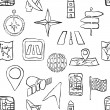 Sketch seamless navigation pattern — 图库矢量图片