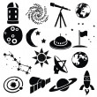 Doodle space images — Stock Vector #17375787