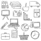 Doodle zaak pictures — Vector de stock