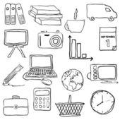 Immagini di doodle business — Vettoriale Stock