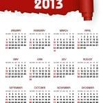 Calendar 2013 — Stock Vector #18165283