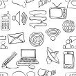 Sketch seamless communication pattern — Stock vektor