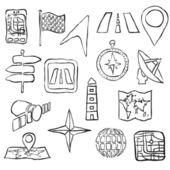 Skizze-Navigation-Bilder — Stockvektor