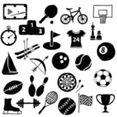Doodle sport images — Stock Vector