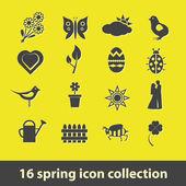 Icônes de printemps — Vecteur