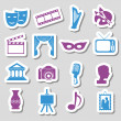 Stock Vector: Culture stickers