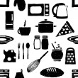 Doodle kitchen seamless pattern — Stock Vector