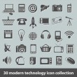 Modern technology icons — Stock Vector