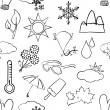 Seamless sketch weather pattern — Stock Vector #18479993