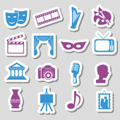 Culture stickers — Vector de stock