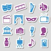 Cultuur stickers — Stockvector