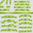 Green ribbons — Stockvector #18943711