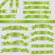 Green ribbons — Vector de stock #18943711