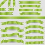 Green ribbons — Stock Vector