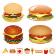 Stock Vector: Hamburger collection