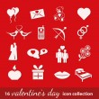 Valentine icons — Stock Vector