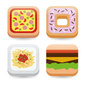 Food application icons — Stock Vector