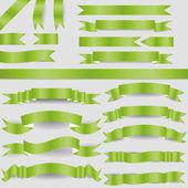 зеленые ленточки — Cтоковый вектор