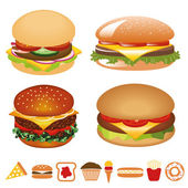 Hamburger collection — Stock Vector