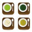 Soup application icons — Stock Vector