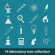 Stock Vector: Laboratory icons