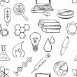 Seamless sketch science pattern — Stock vektor