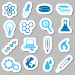 Vector de stock : Science stickers