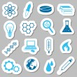 Stok Vektör: Science stickers