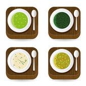 Iconos de aplicaciones de sopa — Vector de stock