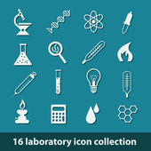 Laboratory icons — Stock Vector